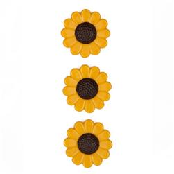 Novelty Button 3/4'' Autumn Flowers Yellow