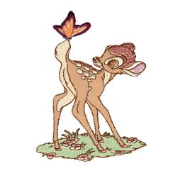 Disney Bambi Iron On Applique Bambi W/Butterfly
