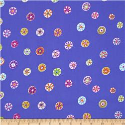Micheal Miller Melodies Folk Floral Dot Periwinkle
