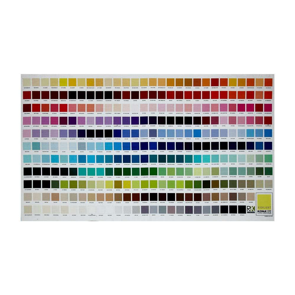Kaufman Kona Digital Printed 24'' Color Chart Panel Multi Fabric