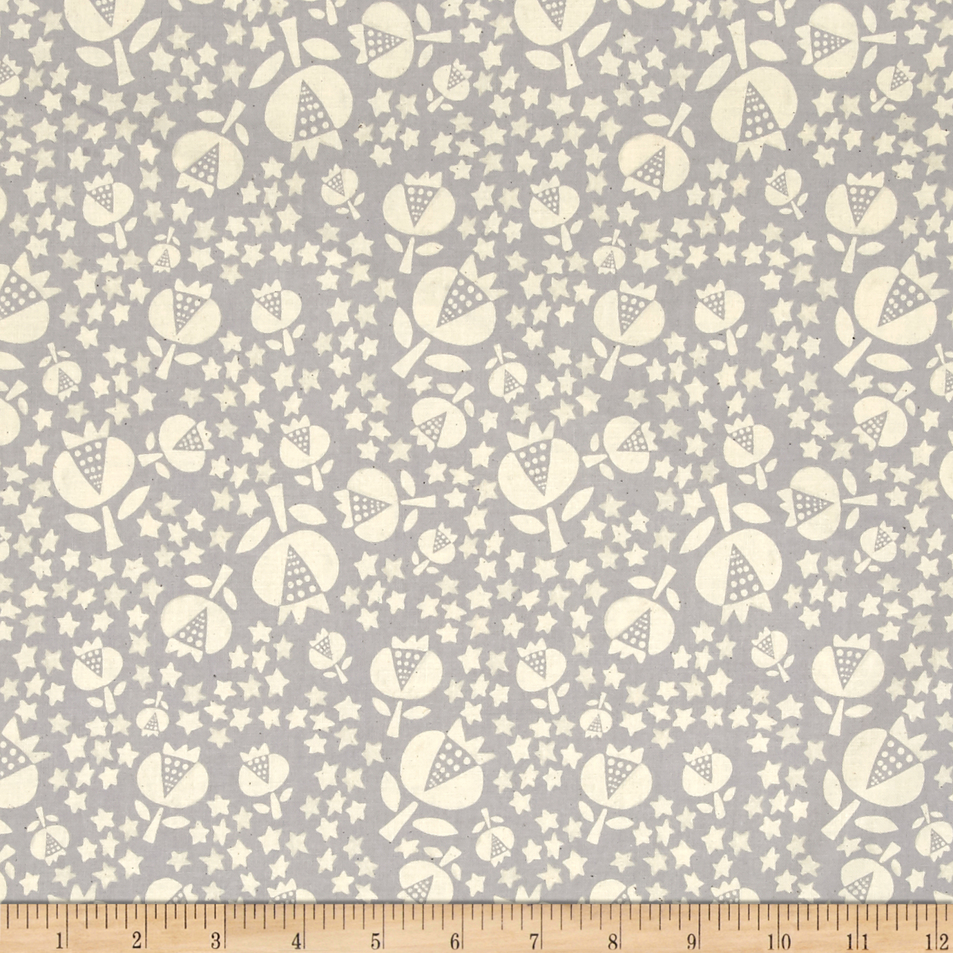 Image of Cotton + Steel Flower Shop Thistle Sky Fabric