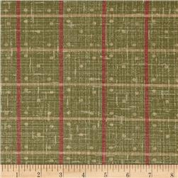Enduring Grace Dot Plaid Green