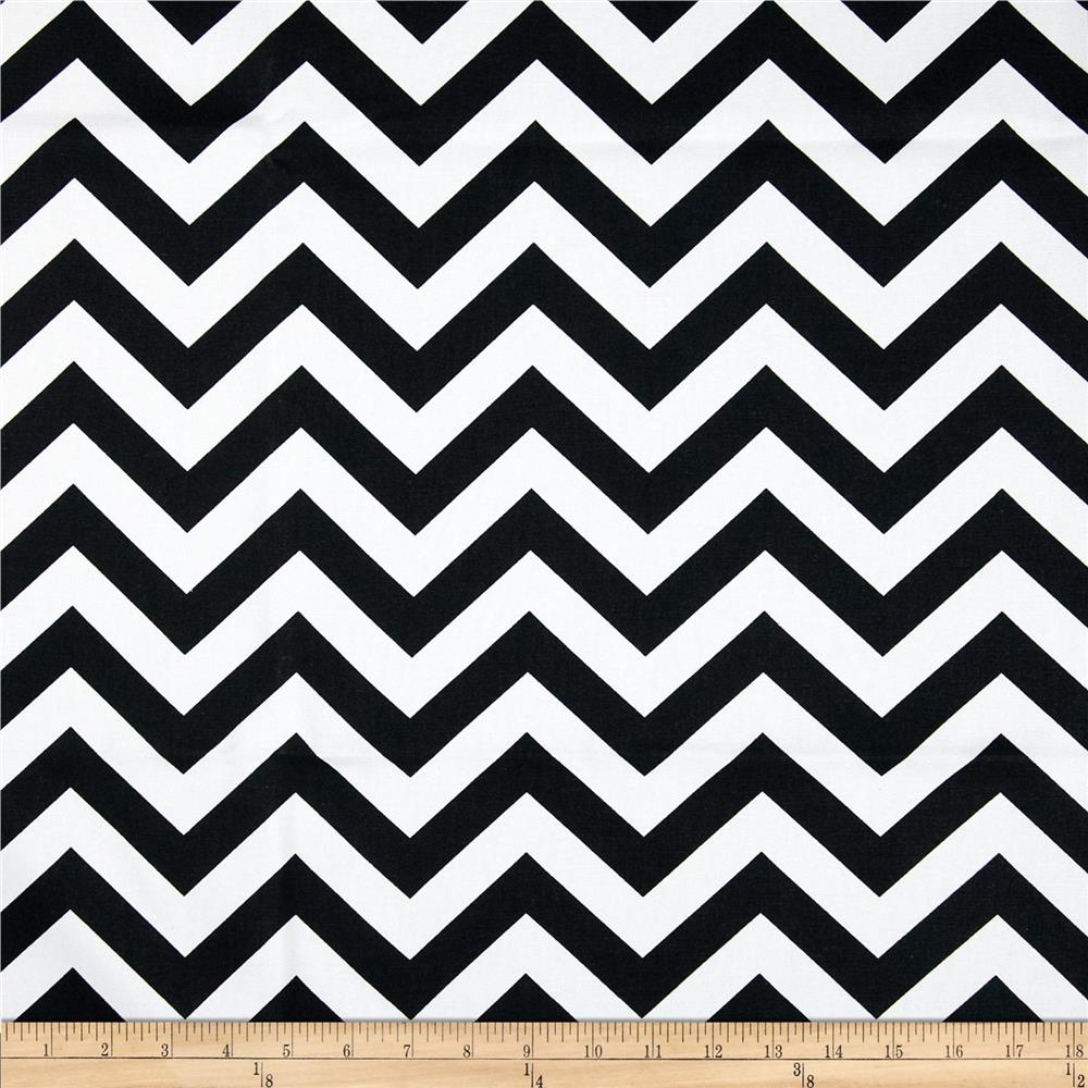 premier prints zig zag black/white - discount designer fabric
