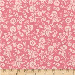 Riley Blake Lost and Found Love Floral Pink