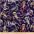 Trick or Treat Skeleton Purple