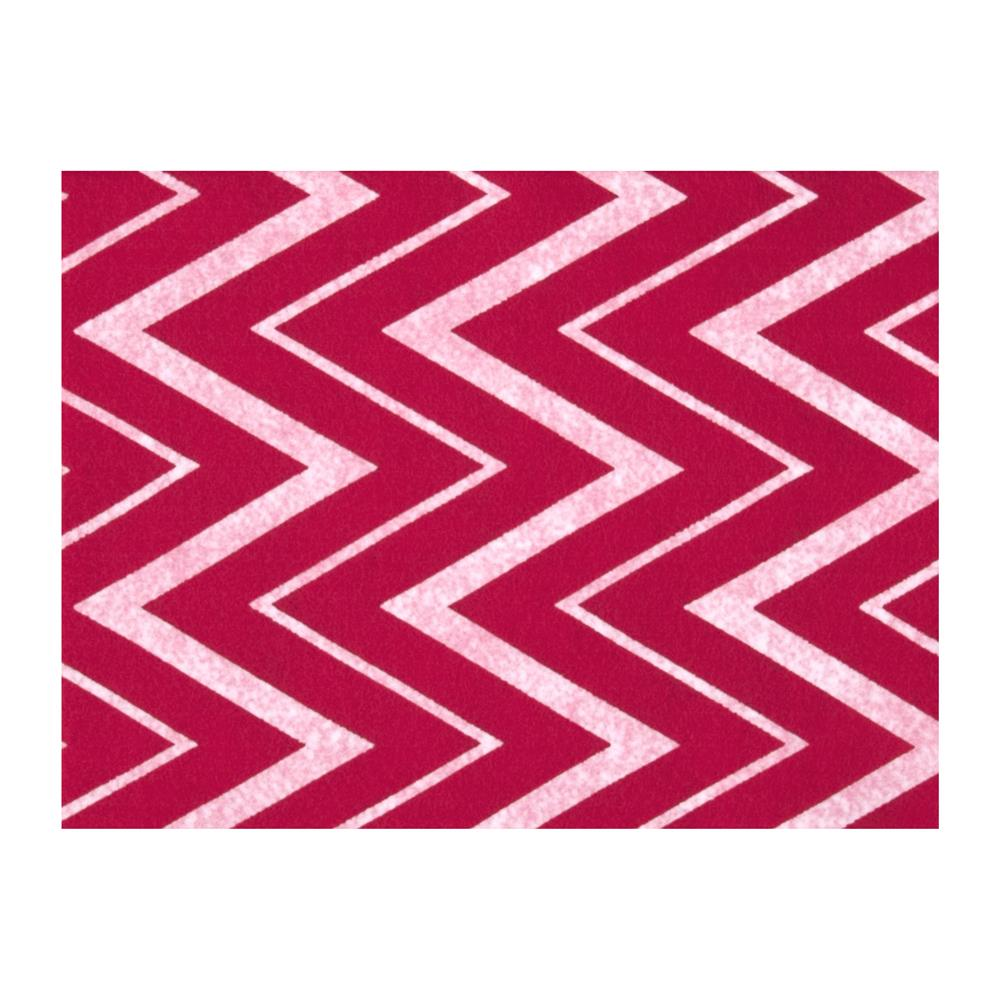 Fanci Felt 9x12'' Craft Cut Chevron Shocking Pink