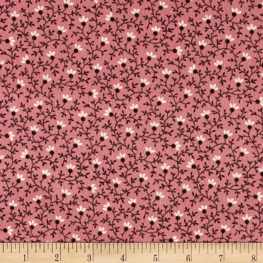 Cozies Flannel Flower Vine Rose Fabric By The Yard