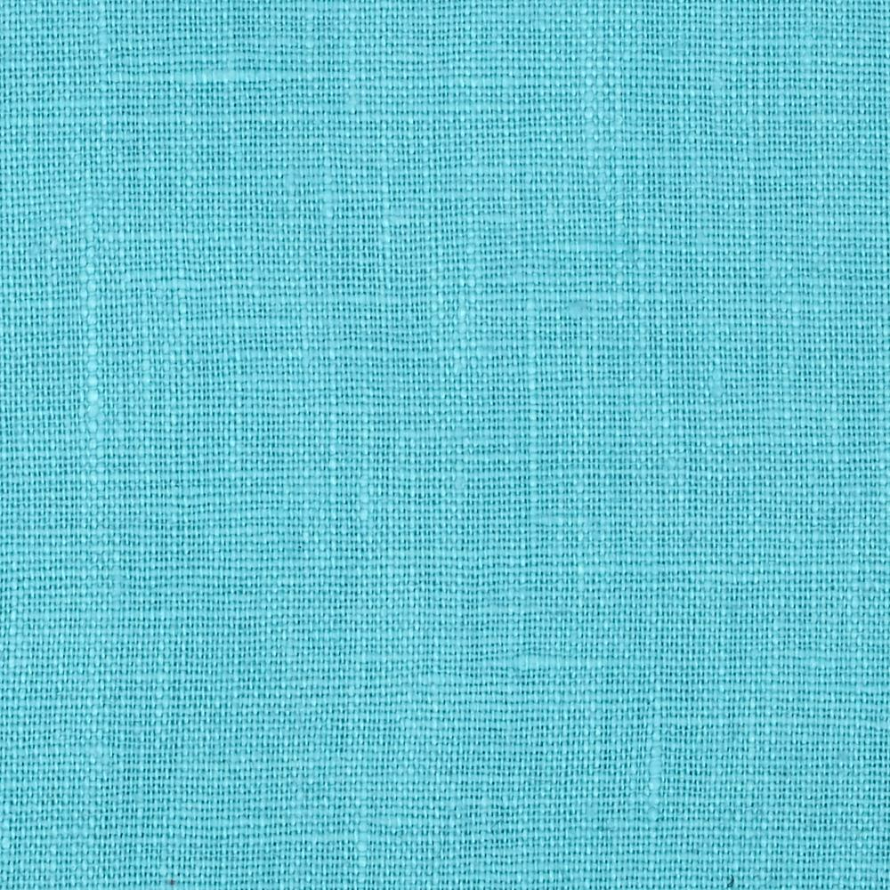 European 100% Washed Linen Turquoise Fabric By The Yard