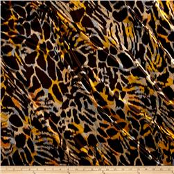 Abstract Animal Stretch Charmeuse Espresso Mimsa