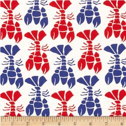 Moda Beach House Lobsters White/Red/Royal