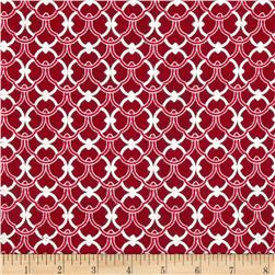 Alchemy Metallic Ironwork Red/Silver Fabric