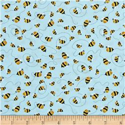 Woodland Cuties Bees Blue