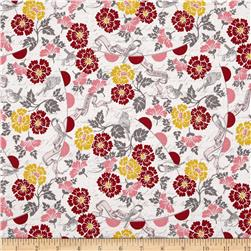 Riley Blake Remember Floral Birds Cream