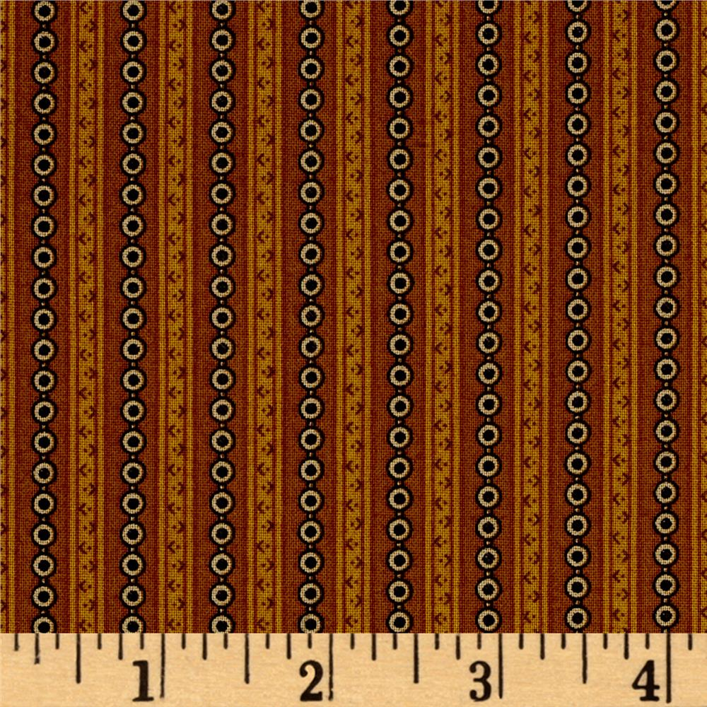 Alexandria Dotted Stripe Brown