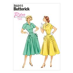 Butterick Misses' Dress and Belt Pattern B6055 Size A50
