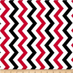 Michael Miller Shi-Shi Chevron Rouge Fabric