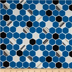 iHaus Organic Hexagons Blue/Black