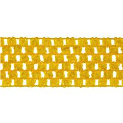 1 3/4'' Crochet Headband Trim Yellow Fabric