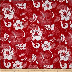 Road To Haleiwa Bright Florals Red