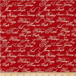 Traditional Holiday Words & Writing Red