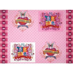 "Pampered Girls Crest 36"" Panel Pink/Multi"