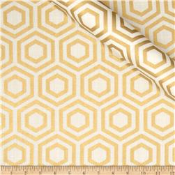 Jackie Heavy Metal Collection Hexagon Metallic Gold