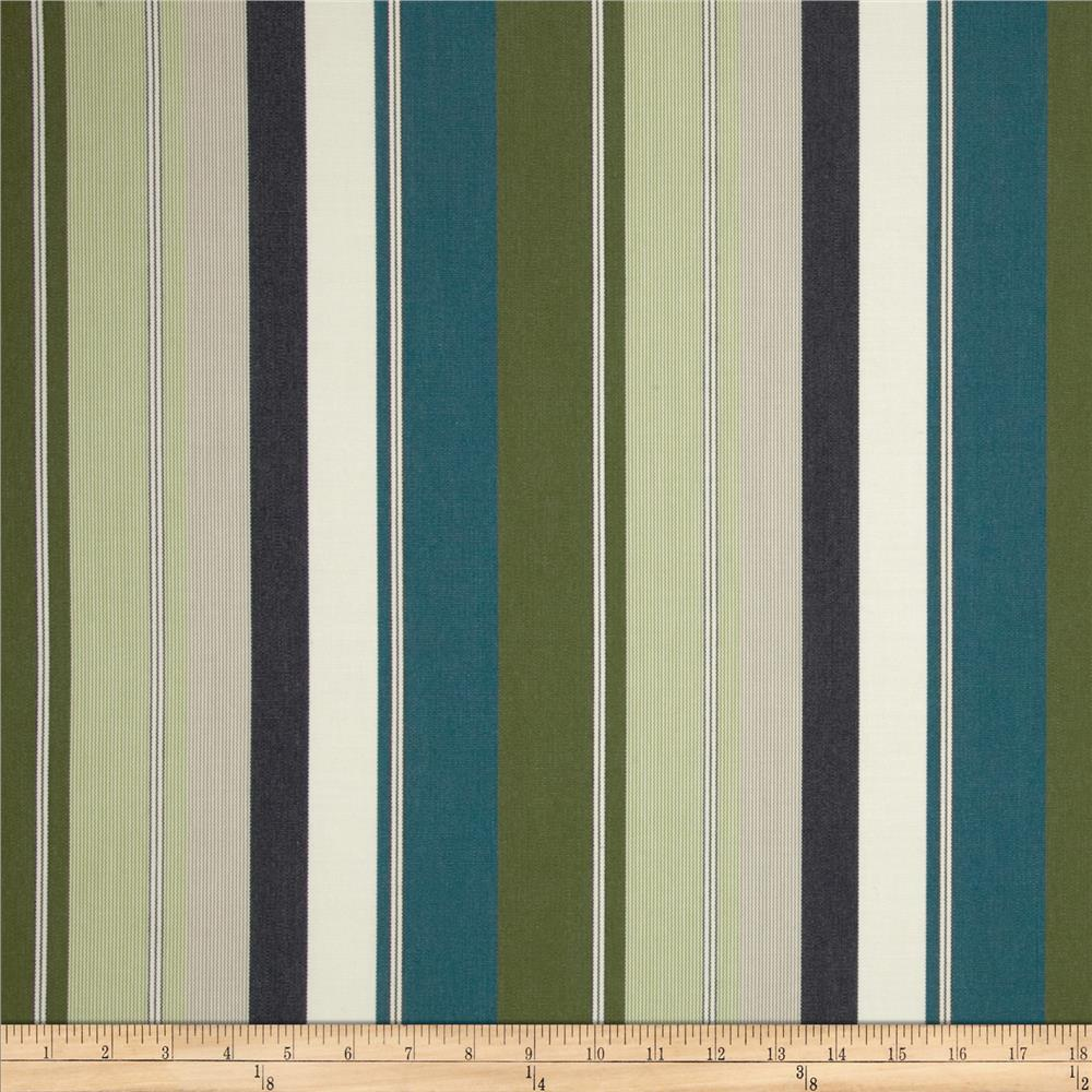Sunbrella Outdoor Cypress Stripe Lakeside