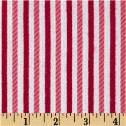 Riley Blake Home for the Holidays Flannel Stripe Red