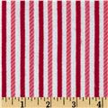 Riley Blake Home for the Holiday's Flannel Stripe Red