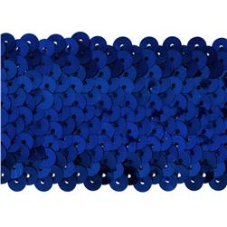 1 3/4'' Metallic Stretch Sequin Trim Royal Blue