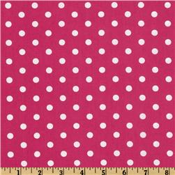 Pimatex Basics Polka Dot Hot Pink/White Fabric