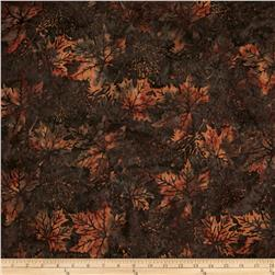 Bali Batiks Maple Leaves Slate