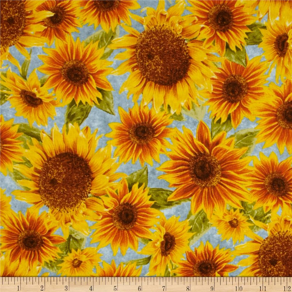 Harvest Botanical Sunflowers Blue