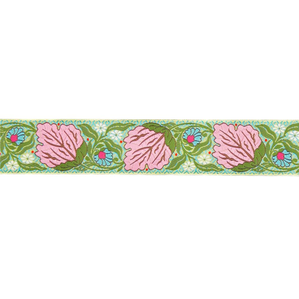 "1-1/2"" Amy Butler Alchemy Blossom Ribbon Pink"