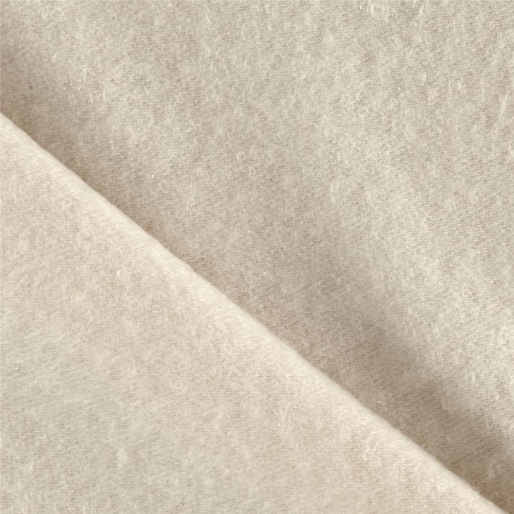 Brushed French Terry Knit Ivory