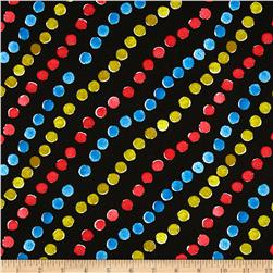 Diagonal Dots Black