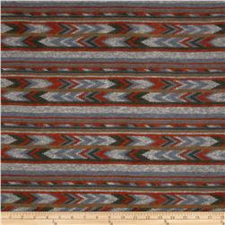 Stretch Tissue Hatchi Knit Southwest Stripe Rust/Grey