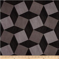 """Michael Miller Luxe 108"""" Wide Back Tumble Blocks Charcoal"""