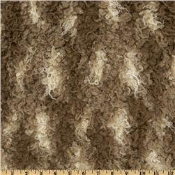 Faux Fur African Mongolian Fur Beige/Brown Fabric