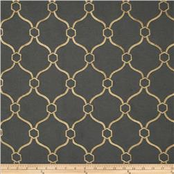 Regal Embroidered Vera Quatrefoil Slate
