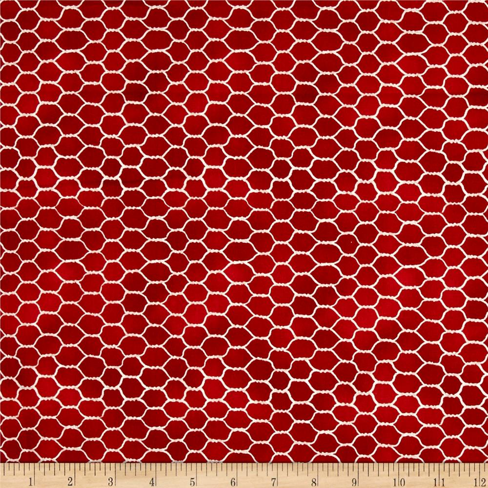 Early to Rise Chicken Wire Red