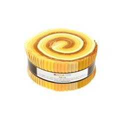 Robert Kaufman Kona Solids Mustard Seed 2.5 In. Jelly Roll