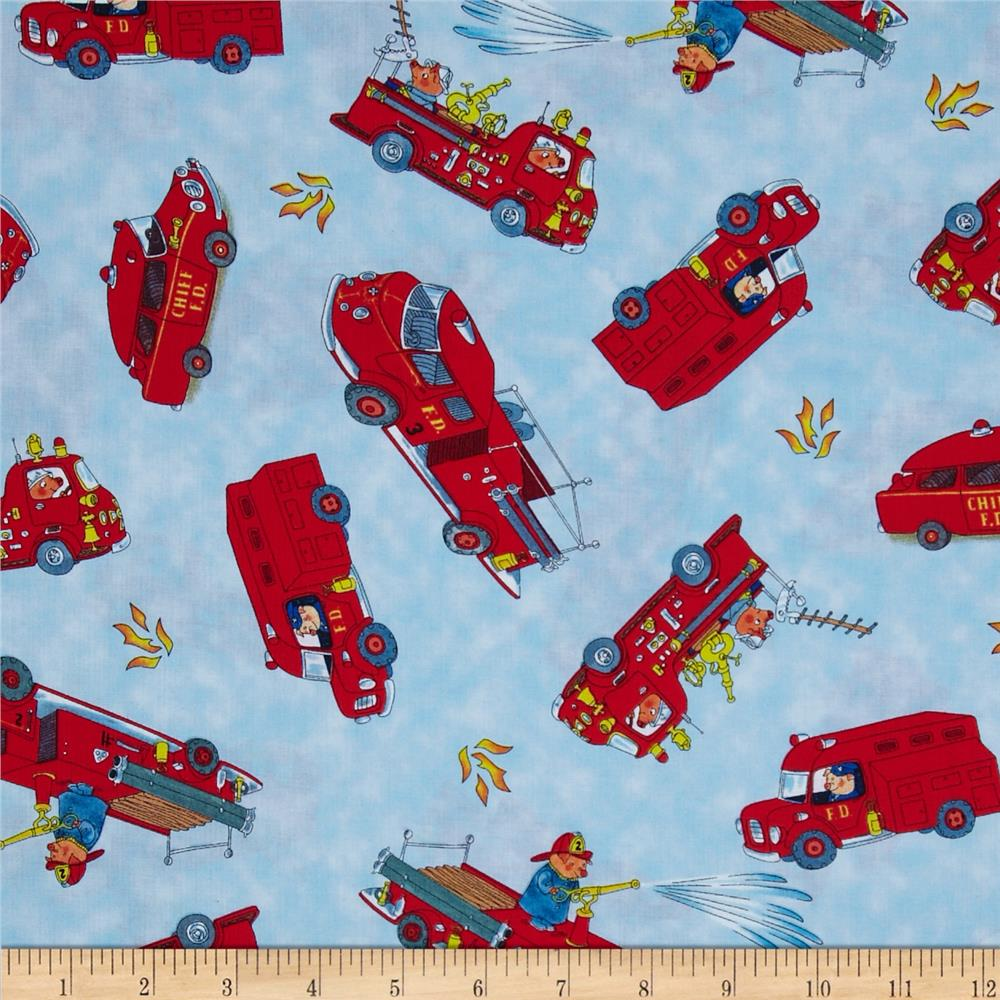 Busytown to the rescue discount designer fabric for Wholesale childrens fabric