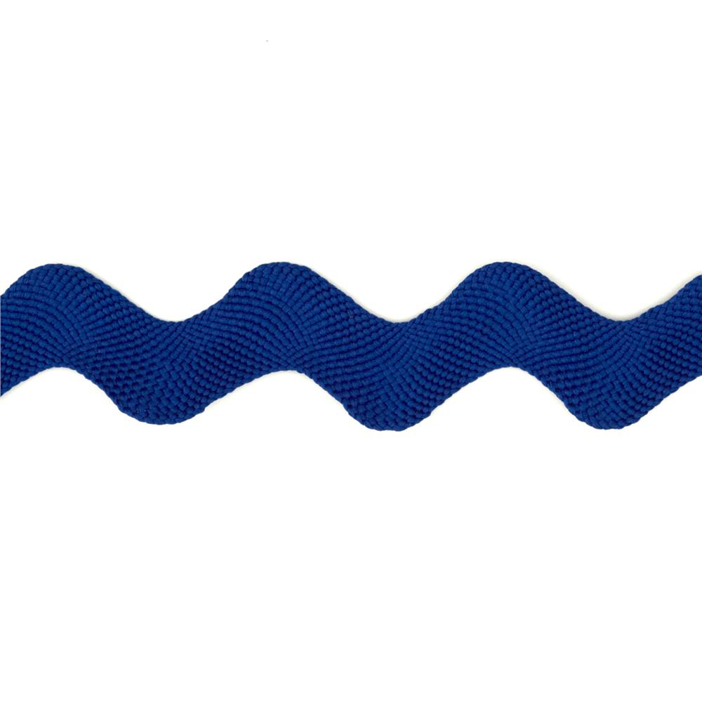 "1"" Ric Rac Polyester Large Trim Royal Blue"