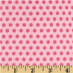 Riley Blake Girl Crazy Flannel Dots Pink