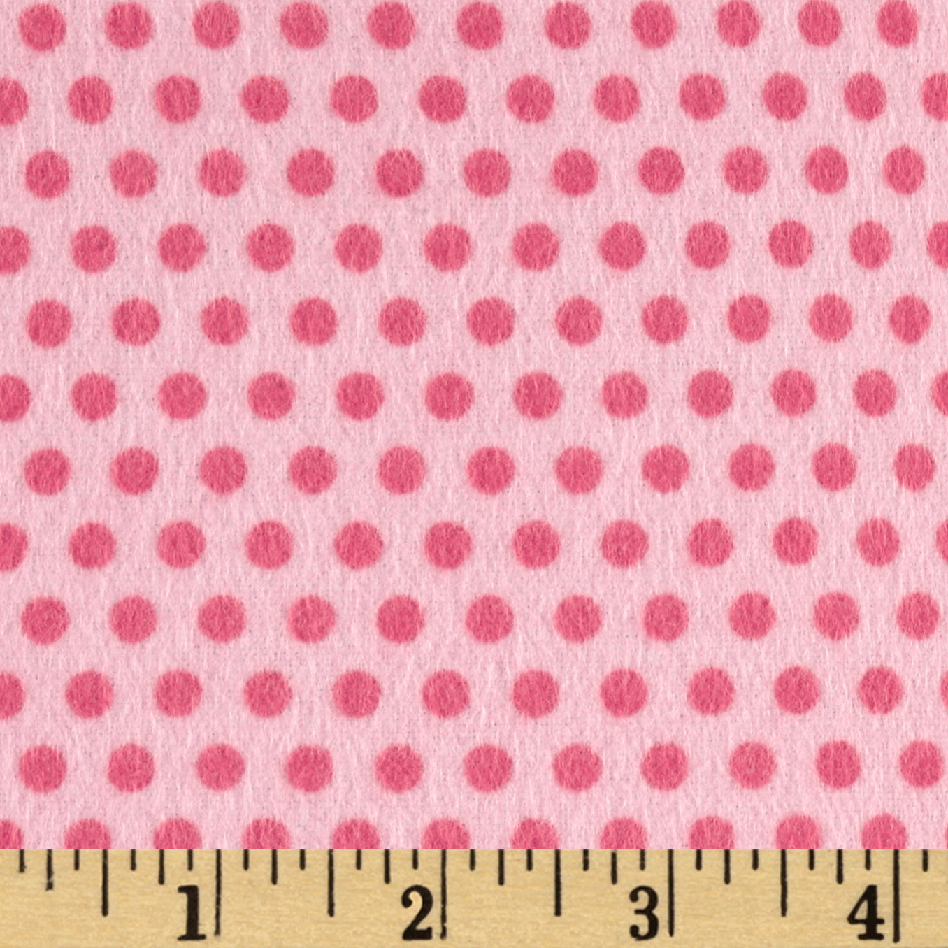 Riley Blake Girl Crazy Flannel Dots Pink Fabric