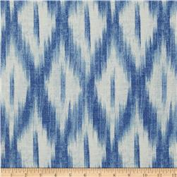 Swavelle/Mill Creek Tizia Ikat Indigo Fabric