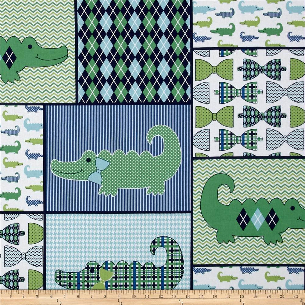 Nursery Little Gentleman Quilt Patch Blue