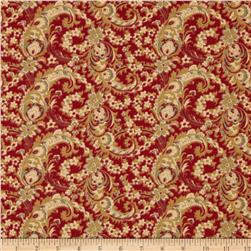 Moda Hearts Content Paisley Heart Warming Red