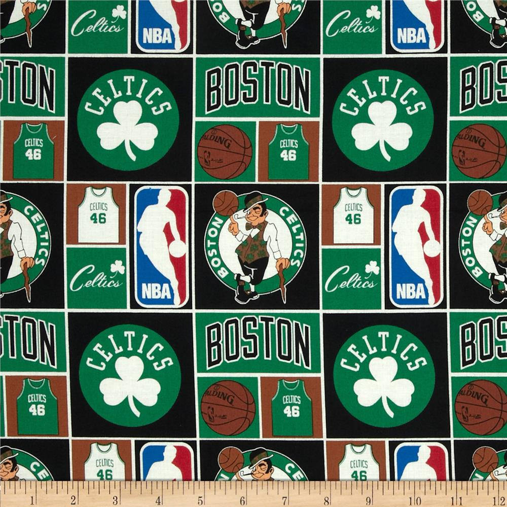 NBA Cotton Broadcloth Boston Celtics Multi
